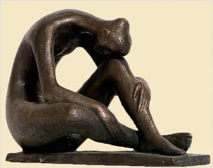 Grief, Sculpture by Andrassy Kurta